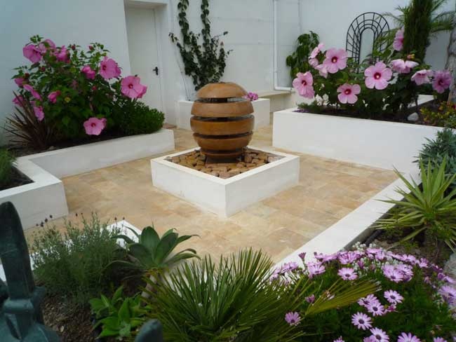 In an ideal world what would your landscape look like for Courtyard garden ideas