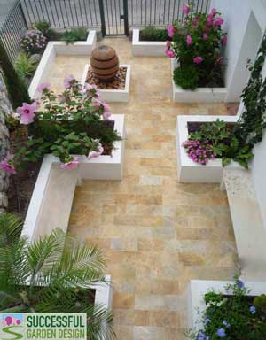 garden design makeover californian courtyard on a budget