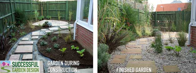 L-shape garden design – Case study