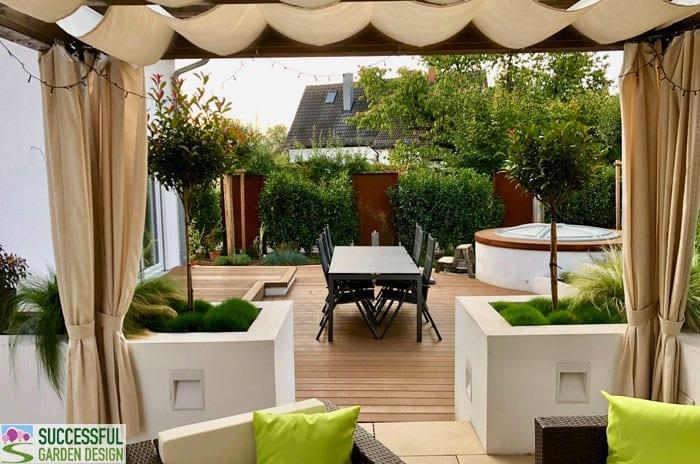 Modern, awkward shape garden design – Wolfgang's garden