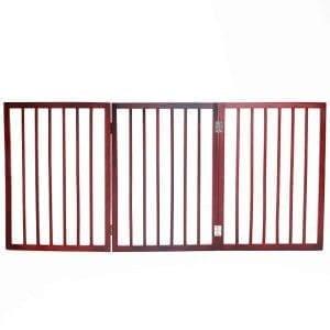 Barkshire 3 Panel Folding Dog Gate - 136 x 61cm