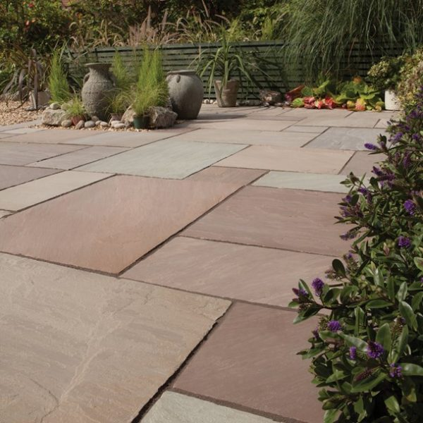 Bradstone, Blended Natural Sandstone Patio Paving Imperial Green Blend Patio Pack - 19.52 m2 Per Pack