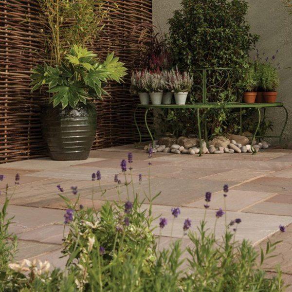 Bradstone Natural Sandstone Paving Autumn Green 600 x 600 - 40 Per Pack