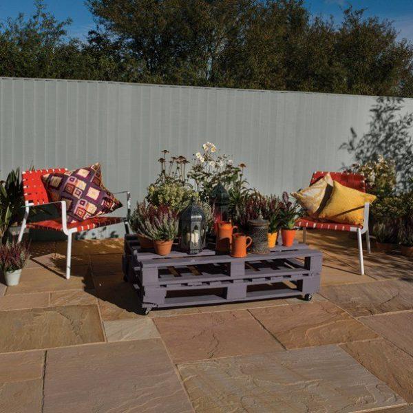 Bradstone Natural Sandstone Paving Sunset Buff 900 x 600 - 28 Per Pack