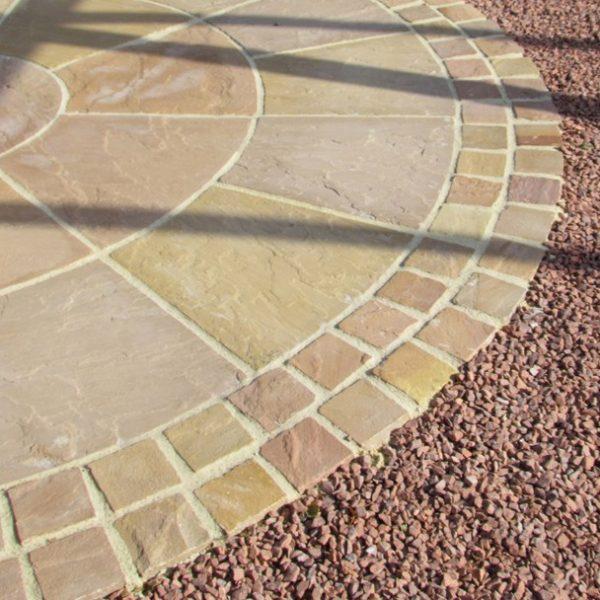 Bradstone Natural Sandstone Paving Sunset Buff Setts, 100 x 100 - 750 Per Pack