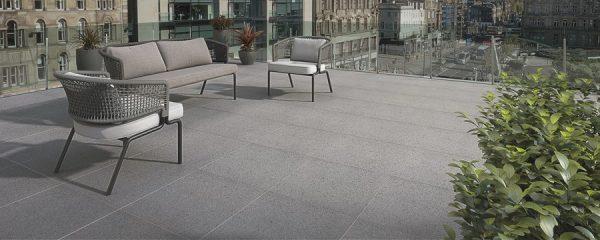 Bradstone, Pauta Porcelain Paving Mid Grey 600 x 600 x 20 - 60 Per Pack