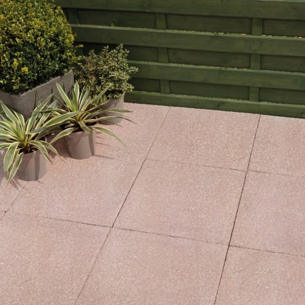 Bradstone Textured Paving Red 600 x 600 - 20 Per Pack