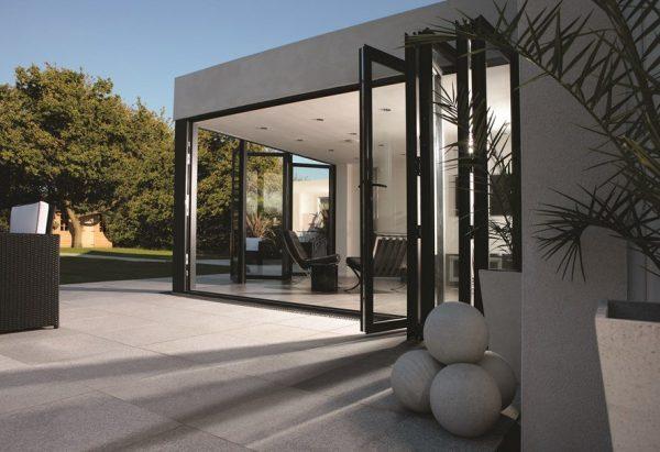 StoneFlair by Bradstone, Granite Patio Paving Silver Grey 900 x 900 - 18 Per Pack