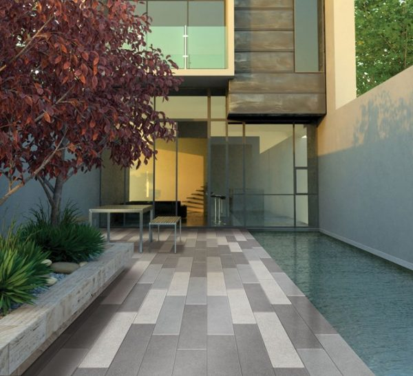 StoneFlair by Bradstone, StoneMaster Patio Paving Light Grey Washed 800 x 200 - 32 Per Pack